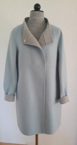 René Lezard Manteau oversized bleu clair-gris clair laine
