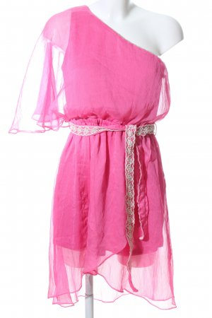 Double Zero One-Shoulder-Kleid pink Elegant