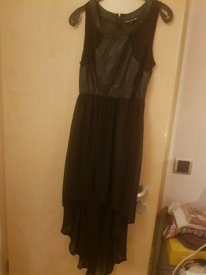 Double Zero High Low Dress black mixture fibre