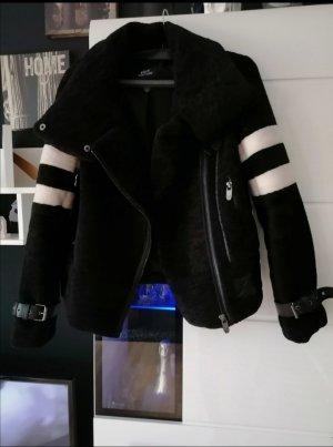 Viva Couture Biker Jacket white-black