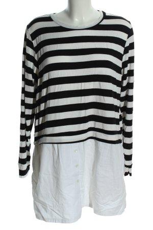 DOUGHNUT Longshirt wollweiß-schwarz Streifenmuster Casual-Look