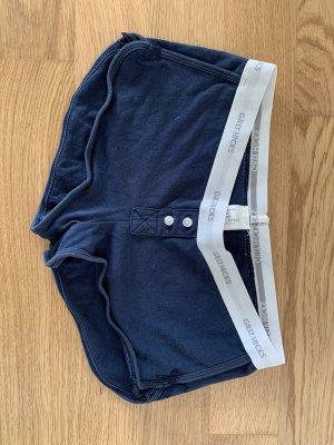 Hollister Short de sport blanc-bleu