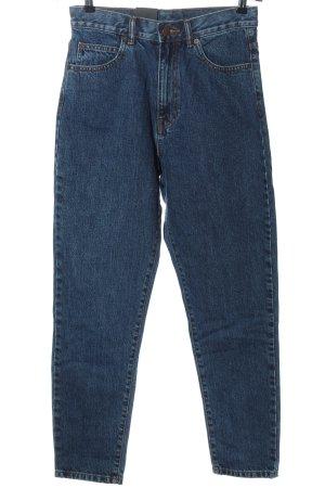 Dr. Denim Jeans a vita alta blu stile casual