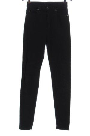 Dr. Denim Jeans a vita alta nero motivo a righe stile casual