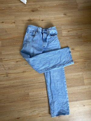 Dr. Denim Jeans a vita alta azzurro-blu Cotone