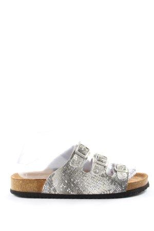 Dr. Jürgens Dianette sandalen zilver glitter-achtig