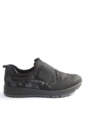 Dr. Jürgens Instapsneakers zwart camouflageprint casual uitstraling