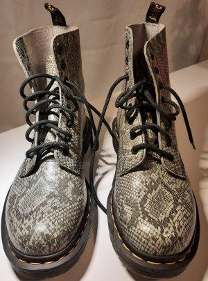 Dr. Martens Bottes à lacets argenté cuir