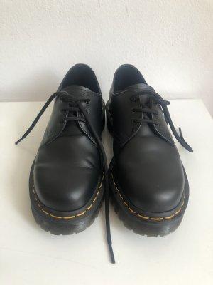 Dr. Martens Zapatos brogue negro-naranja dorado