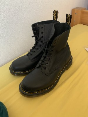 Dr. Martens Ankle Boots black-yellow