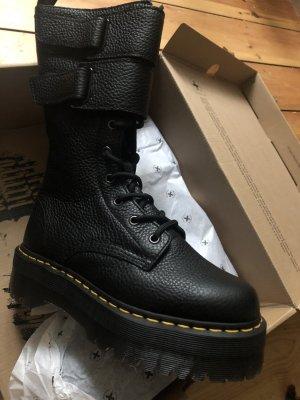 Dr. Martens Platform Boots black leather