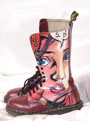 Dr. Martens Aanrijg laarzen donkerrood