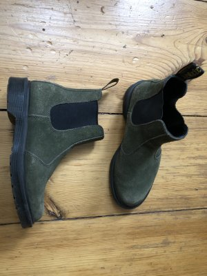 Dr. Martens Chelsea Boots forest green leather