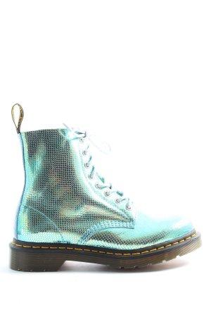 Dr. Martens High Top Sneaker silberfarben-blau Casual-Look