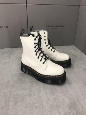 Dr. Martens Platform Boots white