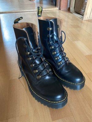 Dr. Martens Aanrijg laarzen zwart-cognac