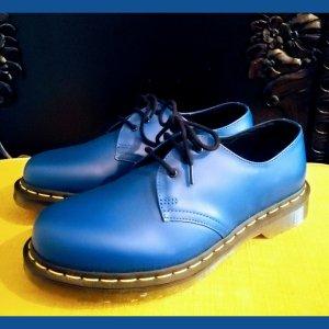 Dr. Martens Chaussures à lacets bleu