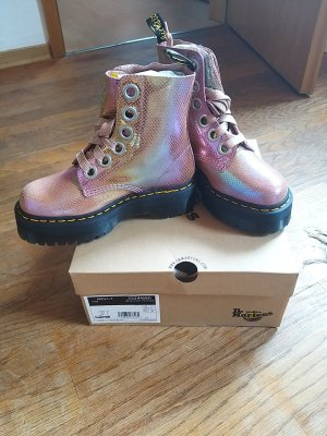 """Dr. Martens """"Molly"""" pink Plateau"""