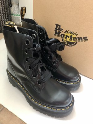 Doc Martens Platform Boots black-yellow