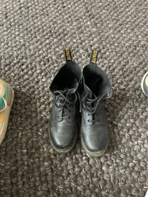 Dr. Martens Combat Boots black-yellow leather