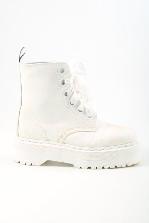 Dr. Martens Plateauzool Laarzen wolwit casual uitstraling