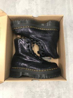 Dr. Martens Platform Boots black-silver-colored