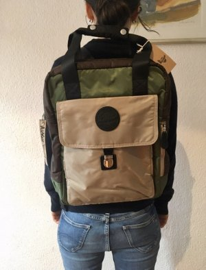 Dr. Martens Zaino laptop verde bosco-marrone