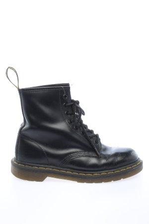 Dr. Martens Bottes à lacets noir style décontracté