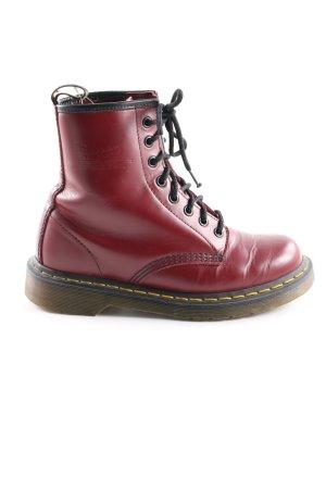 Dr. Martens Aanrijg laarzen rood-zwart casual uitstraling