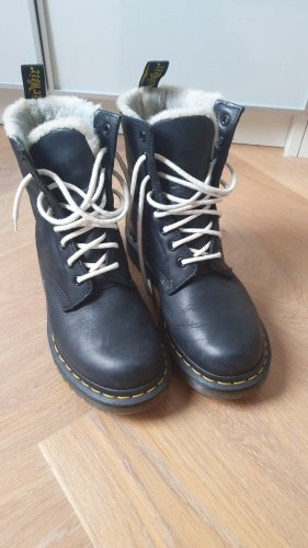 Winter DRM Aanrijg laarzen zwart-wolwit