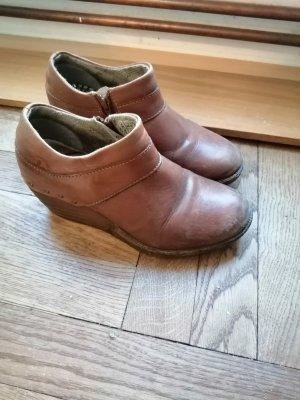 Dr. Martens Wedge Booties brown-cognac-coloured