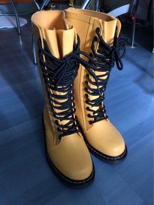 Dr. Martens Wellington laarzen geel-zwart