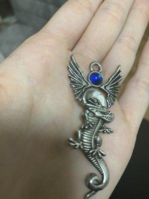 Hanger zilver-donkerblauw