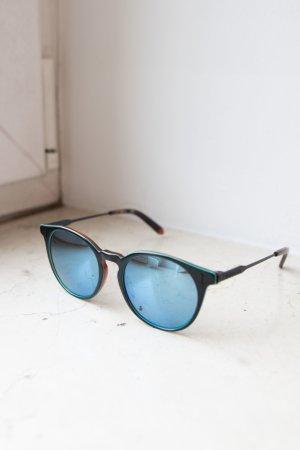 Dragon Okrągłe okulary przeciwsłoneczne czarny-niebieski