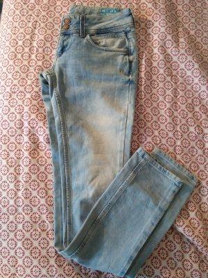 Dragster Jeans Pantalón de tubo azul claro