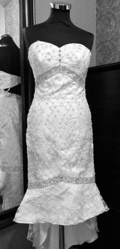 ENVY Vestido de novia blanco puro-color plata