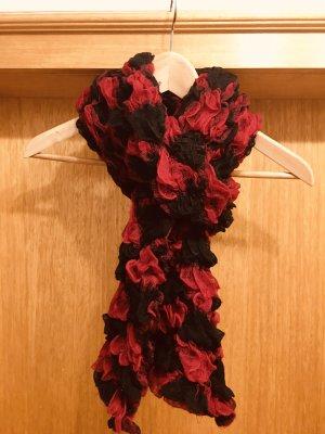 Crinkle Scarf black-red