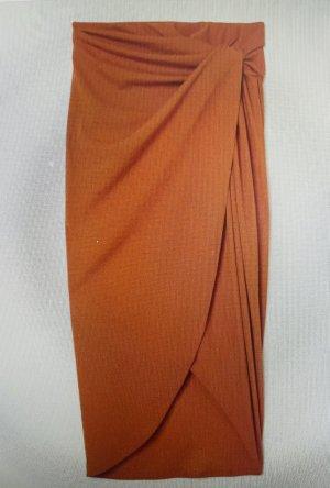 H&M Kopertowa spódnica pomarańczowy