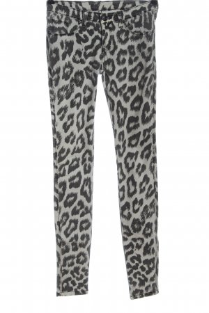 DRDENIM JEANSMAKERS Jeans skinny grigio chiaro-nero stampa integrale
