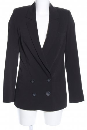 DRDENIM JEANSMAKERS Long-Blazer schwarz Business-Look