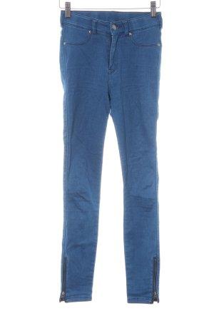 DRDENIM JEANSMAKERS Pantalone a sigaretta blu fiordaliso Elementi metallici
