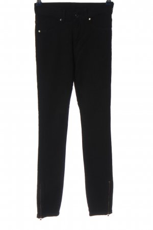 DRDENIM JEANSMAKERS Pantalone a sigaretta nero stile casual