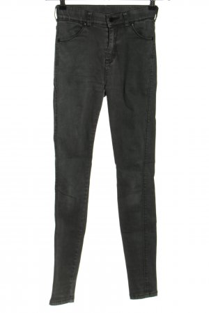 DRDENIM JEANSMAKERS Stretchhose schwarz meliert Casual-Look