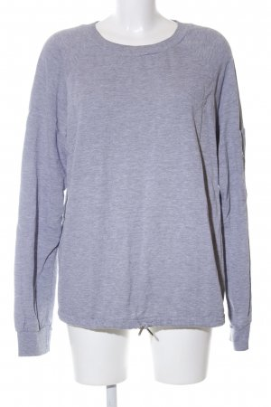 DRDENIM JEANSMAKERS Sweatshirt hellgrau meliert Casual-Look