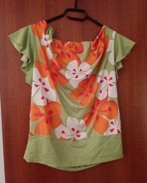 Dream Girl Tunika Long Bluse Shirt Top Longbluse Longshirt Longtop Blumen