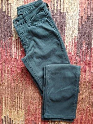 Hoge taille jeans bos Groen Katoen