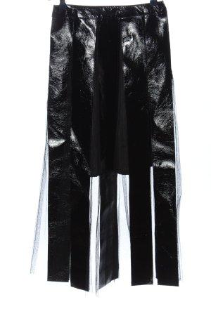 DREAM Rok van imitatieleder zwart elegant