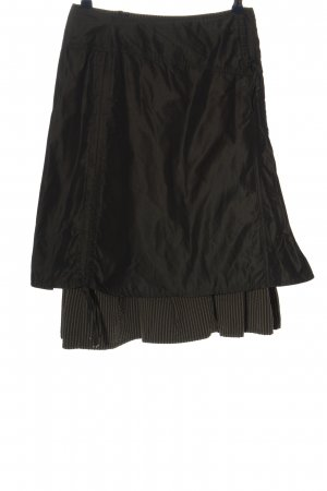 Dreamstar Broomstick Skirt black-brown striped pattern casual look