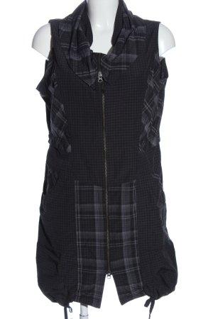 Dreamstar Sports Vests black-light grey check pattern casual look