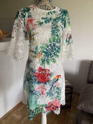 dReAmY! Spitzen Sommerkleid/Tunika - Größe S/M 34/36 - White/Color - NeW